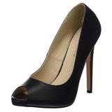 Preto Imitação Couro 13 cm SEXY-42 classico calçados scarpini