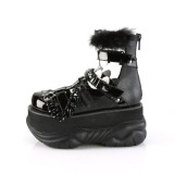 Preto Imitação Couro 7,5 cm NEPTUNE-150 Goticas Sapatos Homem Plataforma