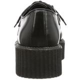 Preto Imitação Couro V-CREEPER-502 Creepers Sapatos Homem Plataforma