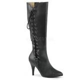 Preto Imitação couro 10 cm DREAM-2026 numeros grandes botas mulher