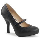 Preto Imitação couro 11,5 cm PINUP-01 numeros grandes scarpin mulher
