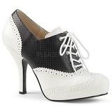 Preto Imitação couro 11,5 cm PINUP-07 numeros grandes sapatos oxford