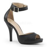 Preto Imitação couro 12,5 cm EVE-02 numeros grandes sandálias mulher