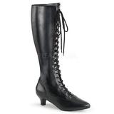 Preto Imitação couro 5 cm FAB-2023 numeros grandes botas mulher