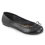 Preto Imitacao couro ANNA-01 numeros grandes sapatos bailarina