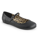 Preto Imitacao couro ANNA-02 numeros grandes sapatos bailarina