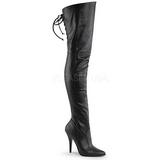 Preto Imitação de couro 13 cm LEGEND-8899 bota acima do joelho