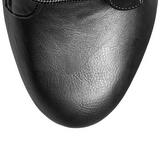 Preto Imitação de couro 15,5 cm DELIGHT-1020 Plataforma Botinha Cano Curto