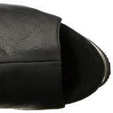 Preto Imitação de couro 15 cm DELIGHT-3019 bota acima do joelho