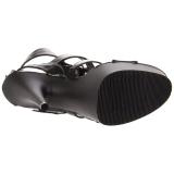 Preto Imitação de couro 15 cm DELIGHT-658 sapatos pleaser de salto alto
