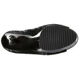 Preto Lantejoulas 15 cm PLEASER BLONDIE-R-3011 bota acima do joelho