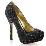 Preto Pedras Brilhando 13,5 cm FELICITY-20 calçados femininos salto alto