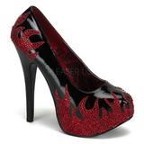 Preto Pedras Brilhando 14,5 cm Burlesque TEEZE-27 calçados femininos salto alto