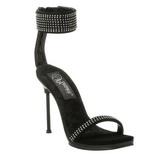 Preto Strass 12 cm CHIC-40 Sapatos Stiletto Salto Agulha
