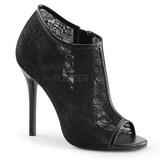 Preto Tecido 13 cm AMUSE-56 sapato scarpin para noite de gala