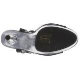 Preto Transparente 14 cm ALLURE-609 Stiletto Salto Agulha