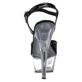 Preto Transparente 15 cm Pleaser KISS-209 Plataforma Salto Agulha