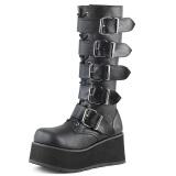 Preto Vegan 8,5 cm TRASHVILLE-518 botas demonia - botas plataforma unisex