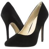 Preto Veludo 13 cm AMUSE-20 Sapatos Scarpin Salto Agulha