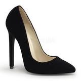 Preto Veludo 13 cm SEXY-20 Sapatos Scarpin Femininos