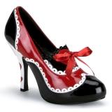 Preto Vermelho 10,5 cm QUEEN-03 calçados femininos com salto alto