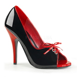 Preto Vermelho 12,5 cm SEDUCE-216 calçados femininos com salto alto