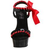 Preto Vermelho Verniz 15 cm DELIGHT-615 Sapatos Stiletto Salto Agulha