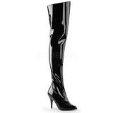 Preto Verniz 10,5 cm VANITY-3010 bota acima do joelho