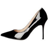 Preto Verniz 10 cm CLASSIQUE-20 Sapatos Scarpin Salto Agulha