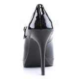 Preto Verniz 11 cm BLISS-31 Sapatos Scarpin Salto Agulha