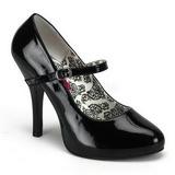 Preto Verniz 12 cm TEMPT-35 Sapatos Scarpin Femininos