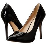 Preto Verniz 13 cm AMUSE-20 Sapatos Scarpin Salto Agulha