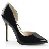 Preto Verniz 13 cm AMUSE-22 classico calçados scarpini