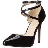 Preto Verniz 13 cm AMUSE-25 sapato scarpin para noite de gala