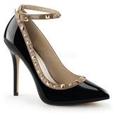 Preto Verniz 13 cm AMUSE-28 classico calçados scarpini