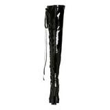 Preto Verniz 13 cm ELECTRA-3050 bota acima do joelho