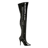 Preto Verniz 13 cm SEDUCE-3000 bota acima do joelho