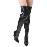 Preto Verniz 13 cm SEDUCE-3010 bota acima do joelho