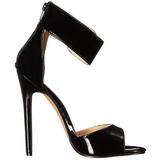 Preto Verniz 13 cm SEXY-19 sandálias para noite de gala