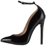 Preto Verniz 13 cm SEXY-23 classico calçados scarpini