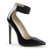 Preto Verniz 13 cm SEXY-33 Sapatos Scarpin Salto Agulha