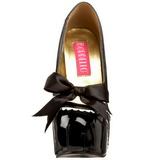 Preto Verniz 14,5 cm Burlesque TEEZE-14 calçados femininos com salto alto