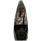 Preto Verniz 14,5 cm Burlesque TEEZE-22 Sapatos Scarpin Salto Agulha