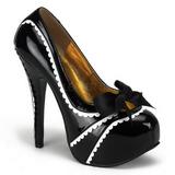 Preto Verniz 14,5 cm TEEZE-14 calçados femininos com salto alto