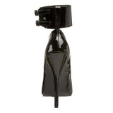Preto Verniz 15,5 cm DOMINA-434 Sapatos Scarpin Femininos