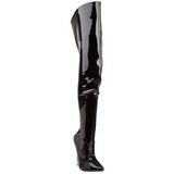Preto Verniz 15,5 cm SCREAM-3010 bota acima do joelho