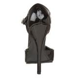 Preto Verniz 15 cm DOMINA-415 Sapatos Scarpin Femininos