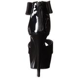 Preto Verniz 15 cm Pleaser DELIGHT-670-3 Plataforma Salto Agulha