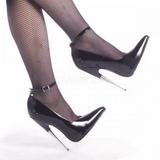 Preto Verniz 15 cm SCREAM-12 Sapatos Scarpin Stiletto Salto Agulha