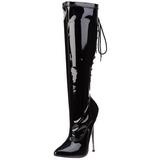 Preto Verniz 16 cm DAGGER-2064 botas femininos com salto alto